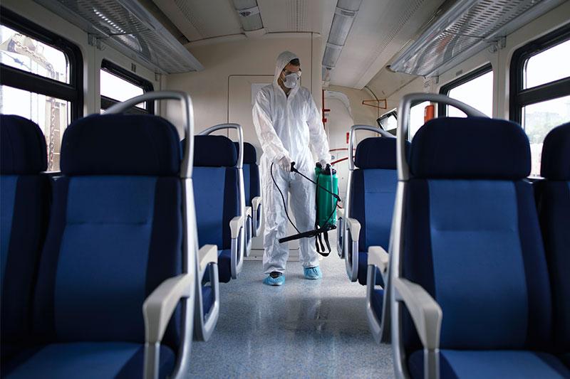 Desinfección de espacios y superficies por nebulización